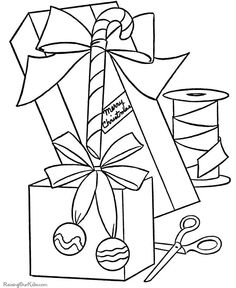 santa gift coloring page cute pinterest santa gifts graphics fairy and santa