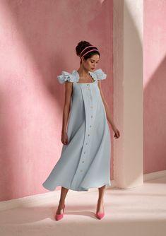 Simple Dresses, Cute Dresses, Summer Dresses, Vintage Dresses, Short Dresses, Korean Girl Fashion, Little Girl Fashion, Womens Fashion, Western Dresses For Girl