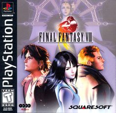 """In my top 5 favorite RPGs. I love the """"drawing"""" battle system where you drain abilities from your enemies and use it against them. Final Fantasy VIII for Playstation Final Fantasy 3, Fantasy Series, Playstation 2, Xbox, Pc Engine, Velasco, Classic Video Games, Games To Buy, The Draw"""