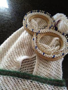 Lace loom afghan