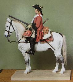 Maitre du regiment de cavalerie 《Colonel general》, 1745, Figure by Lucien Rousselot
