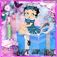 Happy Birthday! Betty PRESENT birthday boop cupcake