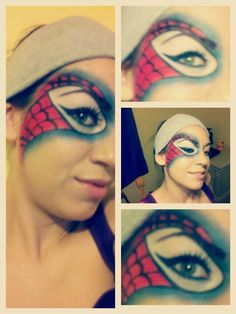 Spider-man mask makeup