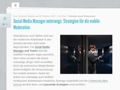 Mobiles Arbeiten? Mit den richtigen Strategien für Social Media Manager kein Problem. Quelle: http://karrierebibel.de/social-media-manager-unterwegs-strategien-fuer-die-mobile-moderation/