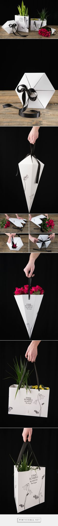 Flower packaging on Behance curated by Packaging Diva PD. Assignment for Swedbag was to create packaging for flowers and created a line of four different gift packaging for bouquets and potted plants.