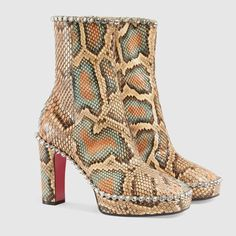 Gucci Python ankle boot with crystals Detail 2