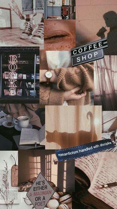 light brown coffee books aesthetic wallpaper Coffee wallpaper iphone Iphone wallpaper vintage Aesthetic iphone wallpaper