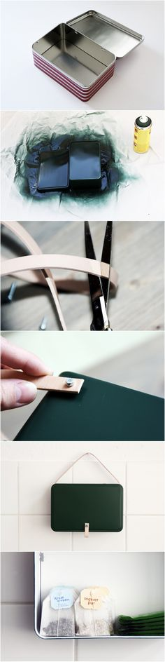 DIY Cookie Box Upcycling with Leather and Paint