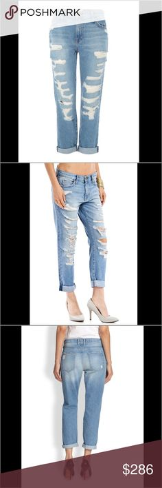Current Elliott New! Boyfriend Tattered Destroyed So cool and comfy boyfriend styles jeans w destroyed tatter by hot clenrity loved brand Current Elliott. Seen on celeb's such as Sarah Jessica Parker, Maria Menudos, Kate Beckensdale, and more! The perfect go to jeans for all your casual to dressy needs! Retails $286, was $200, Summer Jeans Sale now only $118!! Comes tagged, packaged, perfect condition!! Current/Elliott Jeans Boyfriend