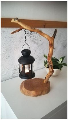 unique table tea lamp candle holder driftwood lantern wooden light DIY gift idea homedecor branch lamp na unique table tea lamp candle holder driftwood lantern wooden light DIY gift idea homedecor branch lamp natural handmade design tree crafts Tree Crafts, Diy Home Crafts, Diy Craft Projects, Decor Crafts, Wood Crafts, Diy Home Decor, Craft Ideas, Diy Ideas, Home Decoration