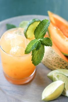 Cantaloupe Margaritas...perfect drink recipe for summer entertaining! | wickedspatula.com