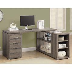 Monarch Reclaimed-Look Left or Right Facing Corner Desk | from hayneedle.com