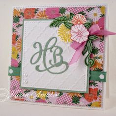 Serendipity Stamps Hello Die, Baby Die, and Flower Pops stamps. Serendipity Stamps is showing you how to get more out of our word dies by creating Monogram Cards this week at the Serendipity Stamps Challenge Blog!