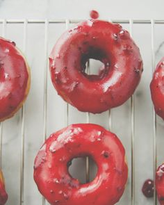Blackberry Glazed Brown Butter Doughnuts //The Kitchy Kitchen
