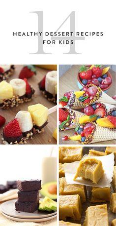 14 Healthy Dessert Recipes Your Kids Will Love via @PureWow