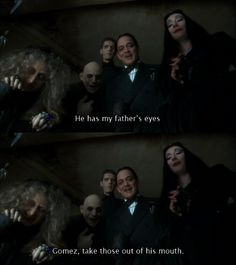Hahaha, I love the Adams family. They're twisted and dark. I love it