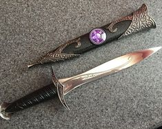 Altar Kits, Athames, Wands, Journals, Crystals & More! by MydnytBluBoho Pretty Knives, Cool Knives, Swords And Daggers, Knives And Swords, Wicca, Knife Aesthetic, Triple Moon, Dagger Knife, Fantasy Weapons