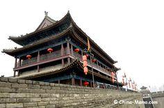 China Xian City Wall South Gate Tower. www.china-memo.com