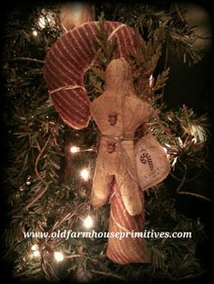 Old Farmhouse Primitives Primitive Country & Colonial Home Decor Christmas Scents, Christmas Ornaments To Make, Primitive Christmas, How To Make Ornaments, Handmade Christmas, Christmas Ideas, Christmas Decorations, Gingerbread Men, Christmas Gingerbread