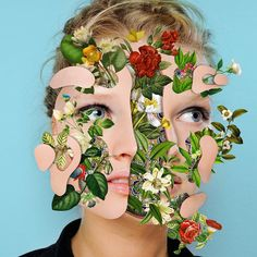 Marcelo Monreal is a collage artist based in Santa Catarina, Brazil. More art on the grid via Inspiration Now Art Du Collage, Flower Collage, Collage Artists, Digital Collage, Art Collages, Collage Portrait, Digital Art, Photomontage, Arte Fashion
