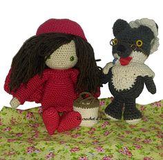 """Après le tuto du loup voici les patrons afin de réaliser le costume de mère grand et ainsi déguiser votre loup. Le petit chaperon rouge a été réalisé d'après le livre d'Isabelle Kessedjian """"Ma poupée au crochet"""". Traduction du patron original de Sharon..."""