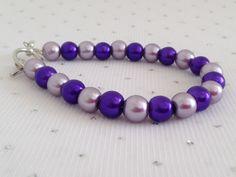 Purple Pearl Bracelet Purple Wedding Pearl door CherishedJewelryCo, $12.00
