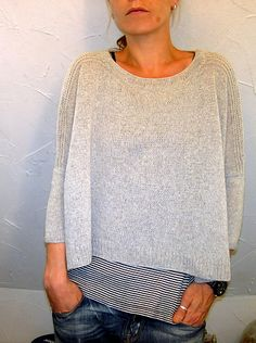 """Ravelry: """"Boxy"""" by Locatelli.  I have a cone of linen that might look great for this sweater....temptation!"""
