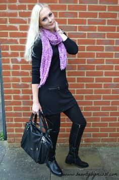 Black and purple outfit via @beautybymissl   #outfit