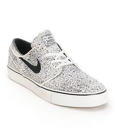 huge discount 36f1e c859c Nike SB Zoom Stefan Janoski PR Ivory   Black Speckle Skate Shoes