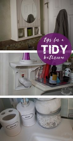 Keep your bathroom neat & tidy with these simple tips, featuring the Power Perch! #ad