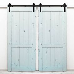 Shop Dogberry Collections  d-coun-3682 Country Vintage Double Barn Doors at ATG Stores. Browse our sliding closet door track & track kits, all with free shipping and best price guaranteed.
