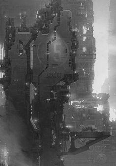 sci fi building / skyscraper / cyberpunk