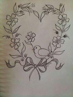요건 짬뽕이예요 길쭉한 리스도안을 하트로 변형시키고 언제나 처럼 꽃은 홀수라는 저의 원칙대로 꽃을 추...