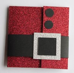 Santa Gift Card Holder - smart! Must turn it into an earring card for next year!