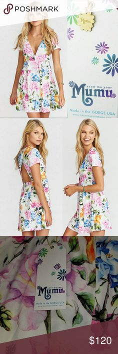 Show Me Your Mumu Ibiza Floral Burst Dress Up for sale Show Me Your Mumu Ibiza Floral Burst Dress.Super cute empire waist dress,super lightweight stretchy floral burst print mini.  Various Size Available. Show Me Your MuMu Dresses Mini