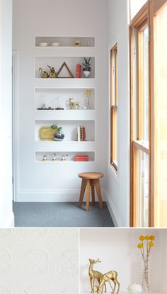 Black Hill House by Caitlin Perry Beautiful recessed shelving and great styling of all those nik-naks.