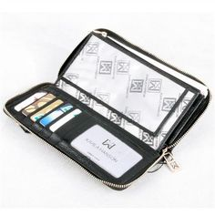 Karla Hanson offers Quality Color Leather Goods, Computer, Cross, Brief, Body Bag in USA and Canada Fashion Wallet, Ladies Fashion, Womens Fashion, Wallets For Women Leather, Cow Leather, Leather Wallet, Black And Grey, Dreams, Lady