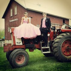 Pink dresses and red tractors- it's prom time again