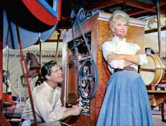 "Stephen Boyd sings ""The Most Beautiful Girl in the World"" to Doris Day."