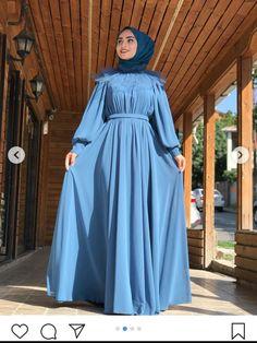 Tesettür Nişanlık Modelleri 2020 Hijab Evening Dress, Hijab Dress Party, Hijab Style Dress, Modest Fashion Hijab, Modern Hijab Fashion, Hijab Fashion Inspiration, Islamic Fashion, Abaya Fashion, Party Wear Dresses