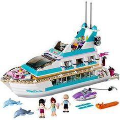 Dazzling Lego Friends Dolphin Cruiser (41015) with accompanying LEGO Storage Bag: Amazon.co.uk: Toys & Games