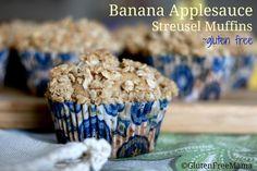 | Banana Applesauce Streusel Muffins ~ Gluten Free | http://www.glutenfreemama.com