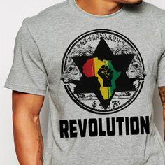 Reggae T-Shirt Haile Selassie I Jah Rastafari African Pride Black History Cotton Tee