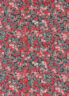 Liberty of London tana lawn fabric manufactured within the United Kingdom Design : Wiltshire Berry Fabric : 100% cotton tana lawn Size : 6 L x 26