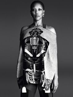 Givenchy spring/summer 2014 - Zien! Zomercampagnes 2014 #ErykahBadu voor #Givenchy #campaign #fashion #mode #model #photography #ELLE