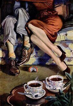 1948 coffee ad/ Albert Dorne