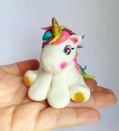 Unicorn cake topper by thewhiskbykarla on Etsy