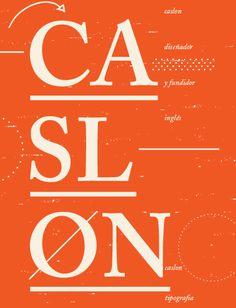Caslon Poster by Euge Digon 2015 Poster Fonts, Type Posters, Typography Poster, Typography Design, Lettering, Typeface Font, Type Design, Grafik Design, Page Layout