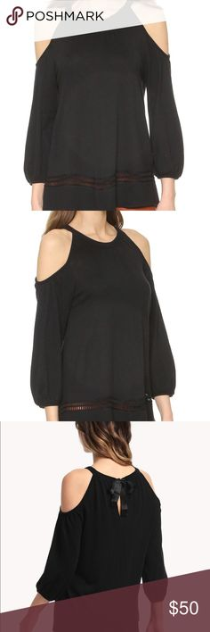 Ella Moss Eve Black Cold Shoulder Sweater Ella Moss Eve Cashmere Blend Sweater   Worn twice. In great condition! Ella Moss Sweaters