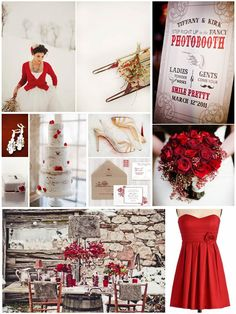 Berry Beautiful - Warming Winter Wedding Inspiration Board with a splash of red